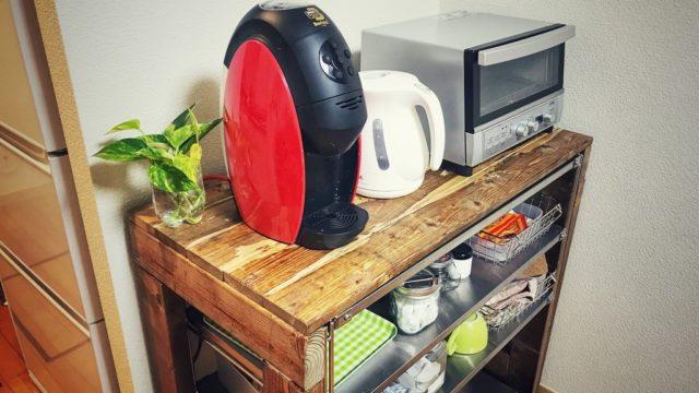 DIYで自宅のリビングにナチュラルなカフェコーナーを作る